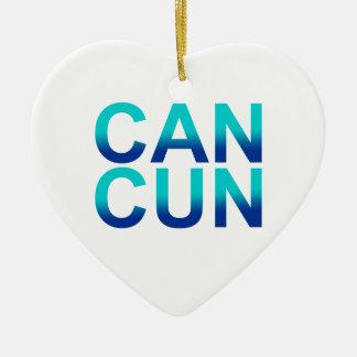 Cancun 1 ceramic ornament