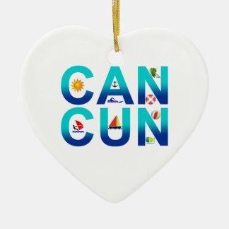 Cancun 2 ceramic ornament
