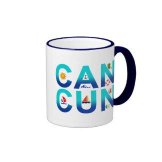 Cancun 2 taza de dos colores