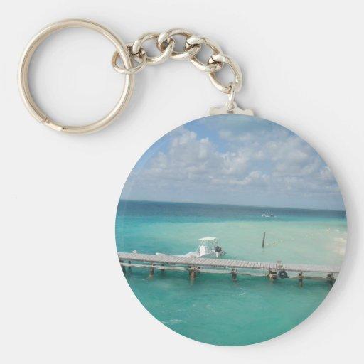 cancun... basic round button keychain