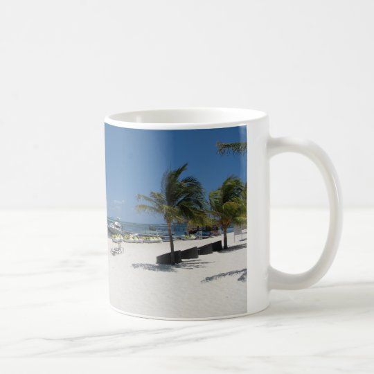 cancun beach coffee mug