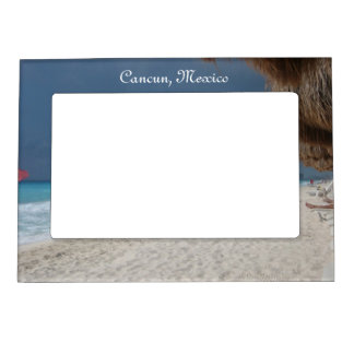 Cancun Beach Magnet picture Frame