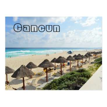 Beach Themed Cancun Beach Oceanfront Waves Tourist Postcard