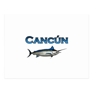 Cancun Blue Marlin Postcard