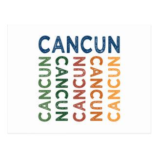 Cancun Cute Colorful Post Card
