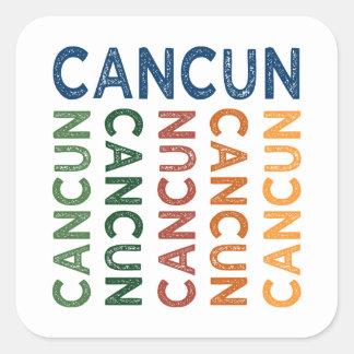 Cancun Cute Colorful Square Sticker