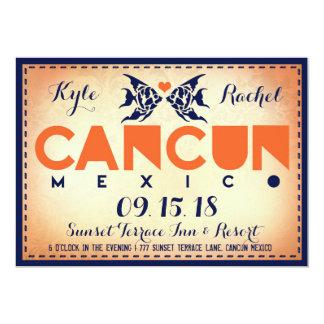 CANCUN Destination Wedding Invitation