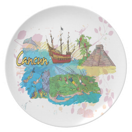 Cancun Dinner Plates
