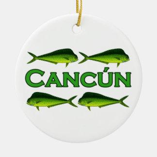 Cancun Dorado Ceramic Ornament