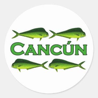 Cancun Dorado Classic Round Sticker