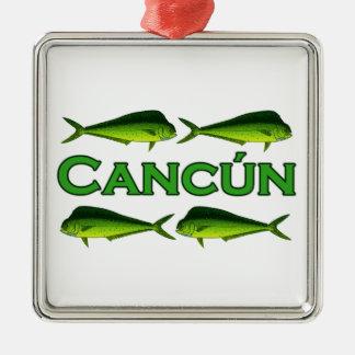 Cancun Dorado Metal Ornament