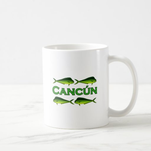 Cancun Dorado Taza Básica Blanca