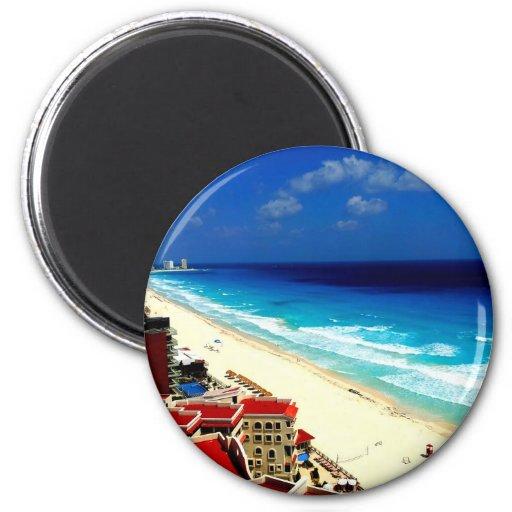 Cancun Imán Redondo 5 Cm