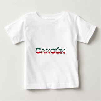 Cancun (logotipo del texto) playera de bebé