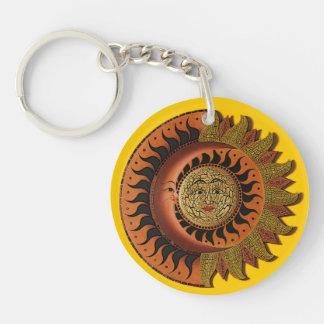 Cancun Mayan Moon and Sun Keychain