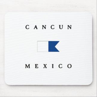 Cancun Mexico Alpha Dive Flag Mouse Pad