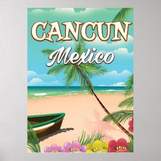 Cancun Mexico beach poster