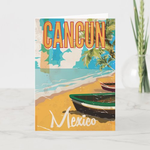 Cancun Mexico Beach Vintage travel poster print