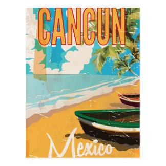 Cancun Mexico Beach Vintage travel poster print Postcard