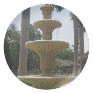 Cancun Mexico Fountain Plate