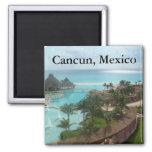 Cancun México Imán Cuadrado