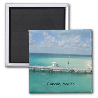 Cancun, México Isla Mujeres Imán Cuadrado