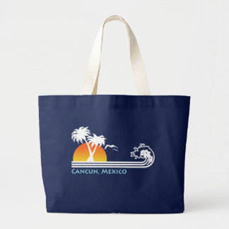 Cancun Mexico Large Tote Bag