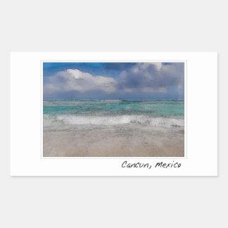 Cancun Mexico Ocean Beach Rectangular Sticker