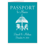 Cancun Mexico Passport Save the Date Card