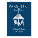 Cancun Mexico Passport Wedding Invitation Cards