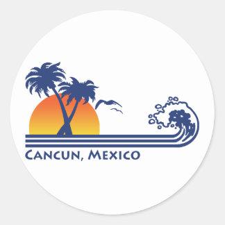 Cancun México Pegatinas Redondas