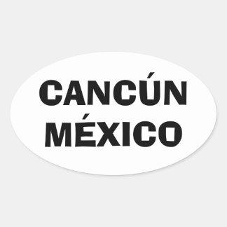 Cancun, México Pegatina Ovalada