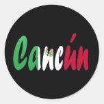 Cancun, México Pegatina Redonda