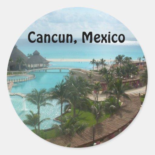 Cancun México Pegatina Redonda