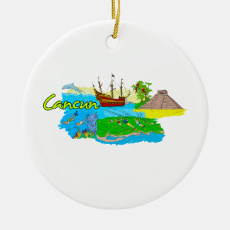 Cancun - Mexico png Ornament