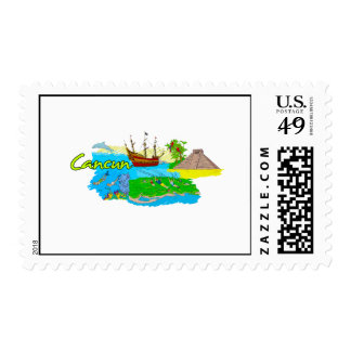Cancun - Mexico png Postage Stamp