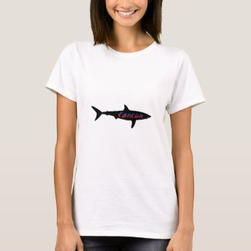Beach Themed Cancun Mexico Shark T-Shirt
