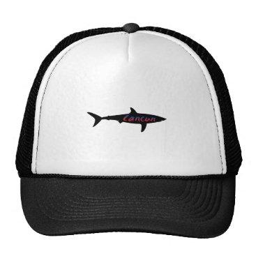 Beach Themed Cancun Mexico Shark Trucker Hat