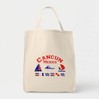 Cancun Mexico Signal Flags Canvas Bags