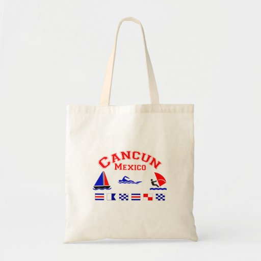 Cancun Mexico Signal Flags Canvas Bags