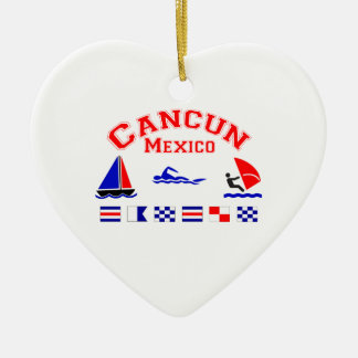 Cancun Mexico Signal Flags Christmas Ornament