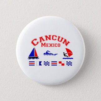 Cancun Mexico Signal Flags Pinback Button