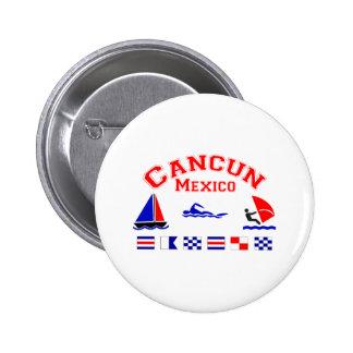 Cancun Mexico Signal Flags Pinback Button