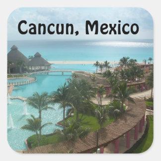 Cancun Mexico Square Sticker