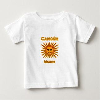 Cancun México Sun hace frente al icono Playera De Bebé