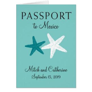 Cancun Mexico | Wedding Passport Card