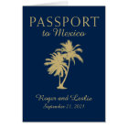 Cancun Mexico Wedding Passport Card