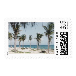 Cancun Palms Postage Stamps