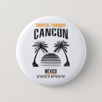 Cancún Pinback Button