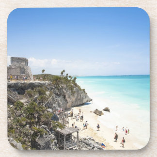 Cancun, Quintana Roo, México - ruinas en una colin Posavasos De Bebida